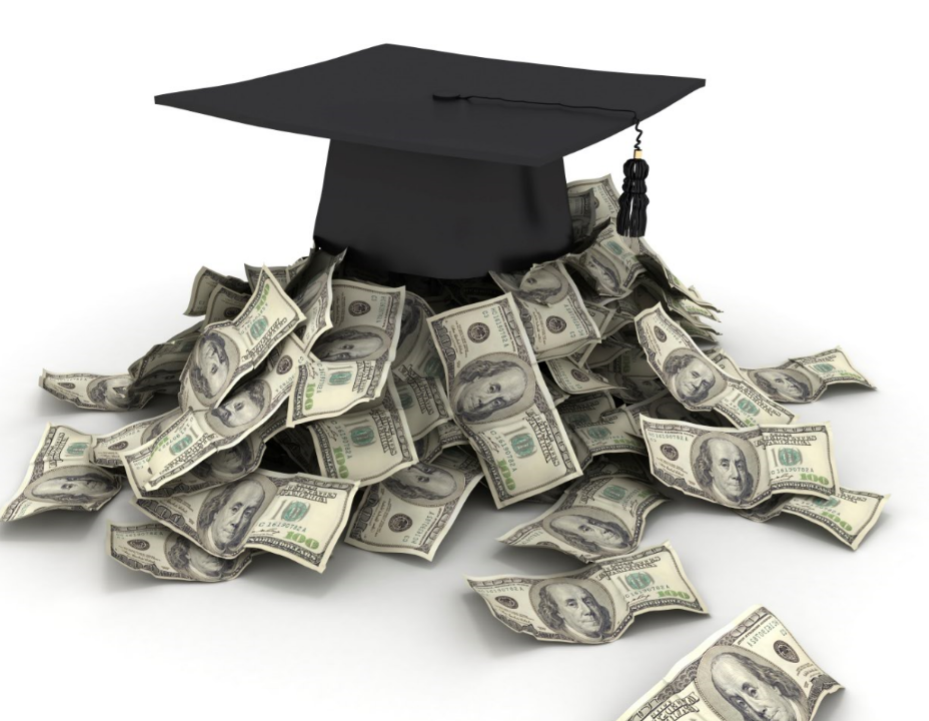 Scholarships Graduation Cap and Money