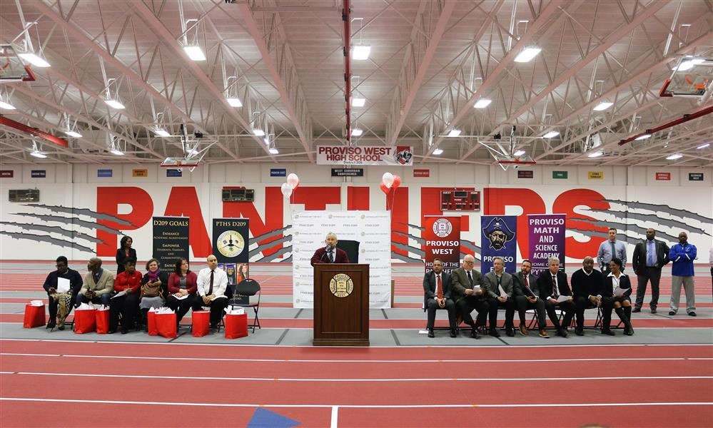 Proviso West Field House Ribbon Cutting