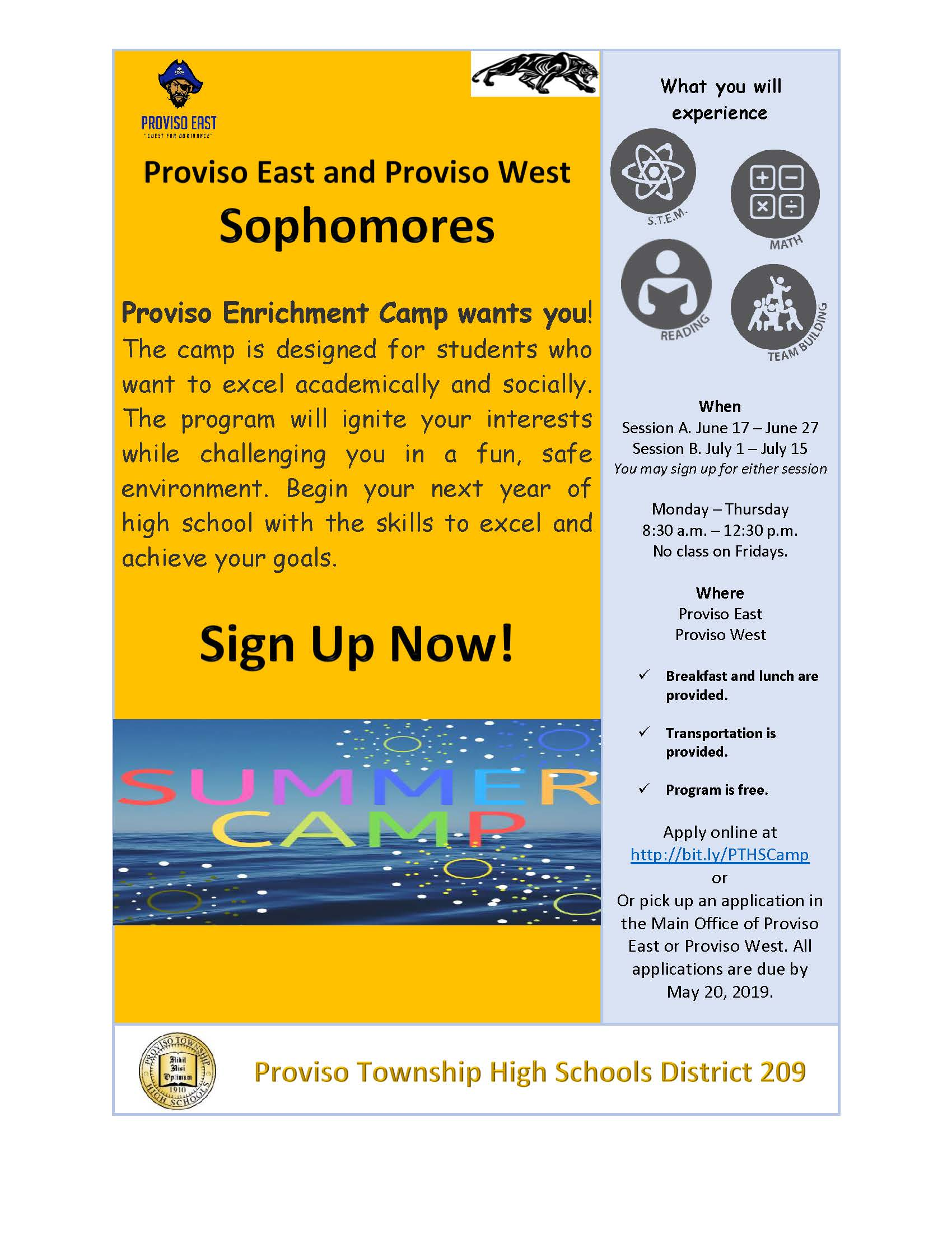 Summer School Enrichment for Sophomores