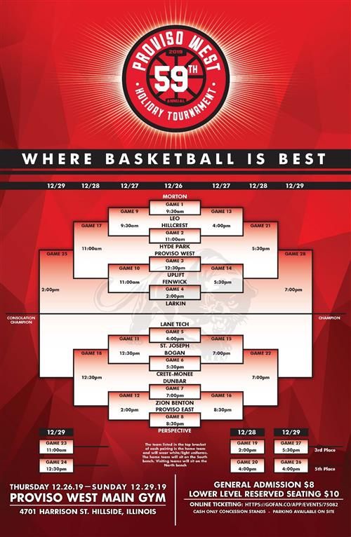 flyer of tournament bracket