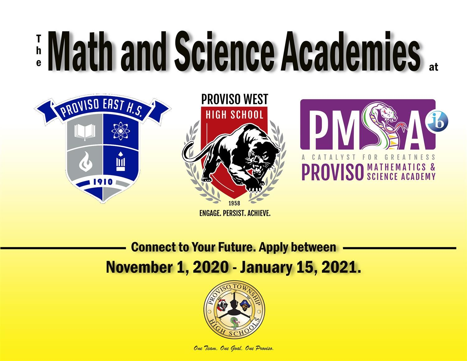 Apply here for the Math and Science Academies