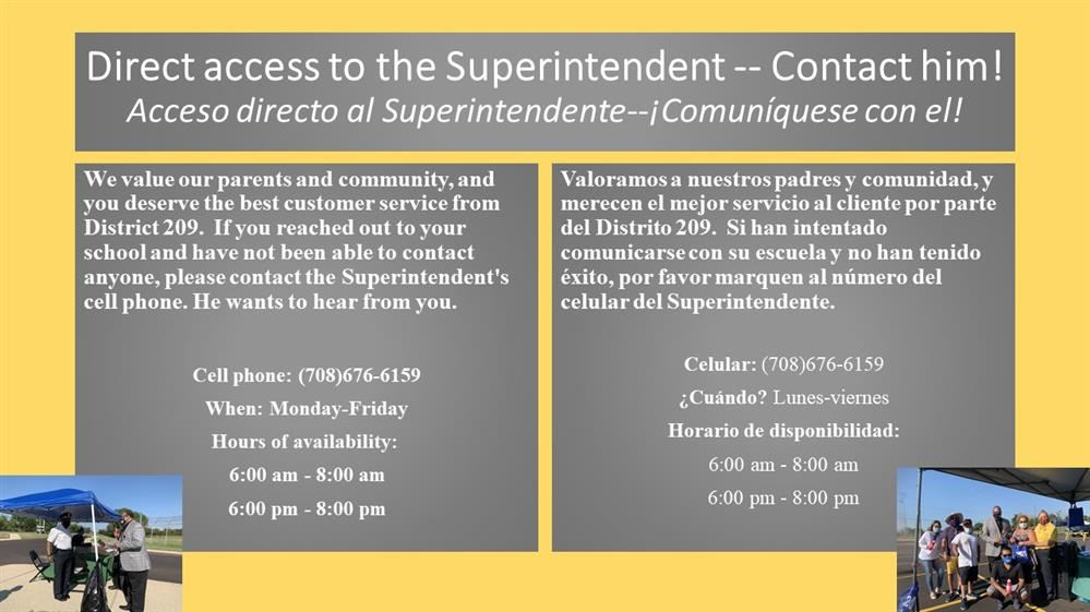 Direct access to the Superintendent /Acceso directo al Superintendente