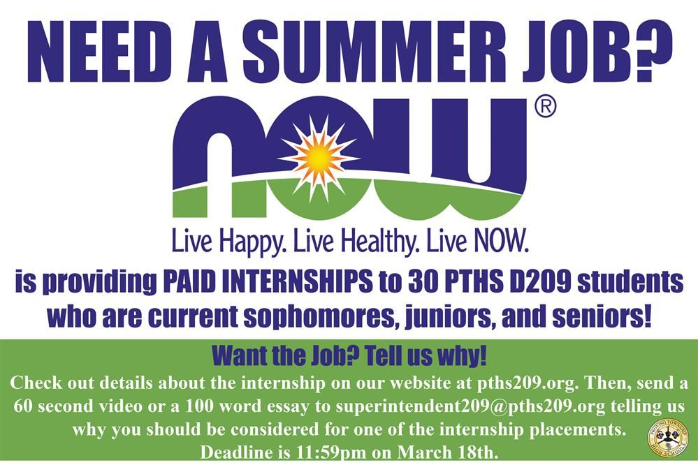 NOW  Summer Temp/Internship Program
