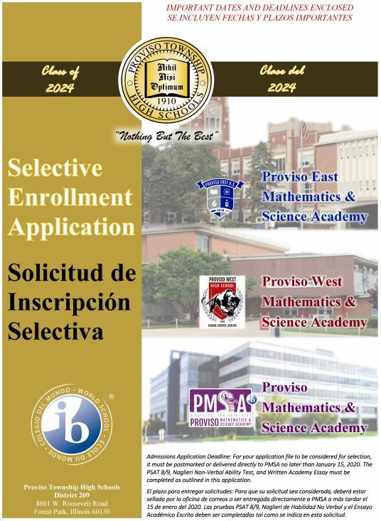 PTHS D209 Selective Enrollment Application Now Open!