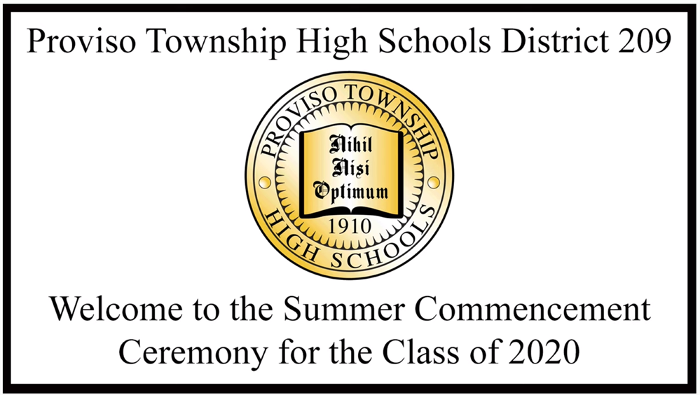 PTHS D209 Summer School Commencement Program - Class of 2020