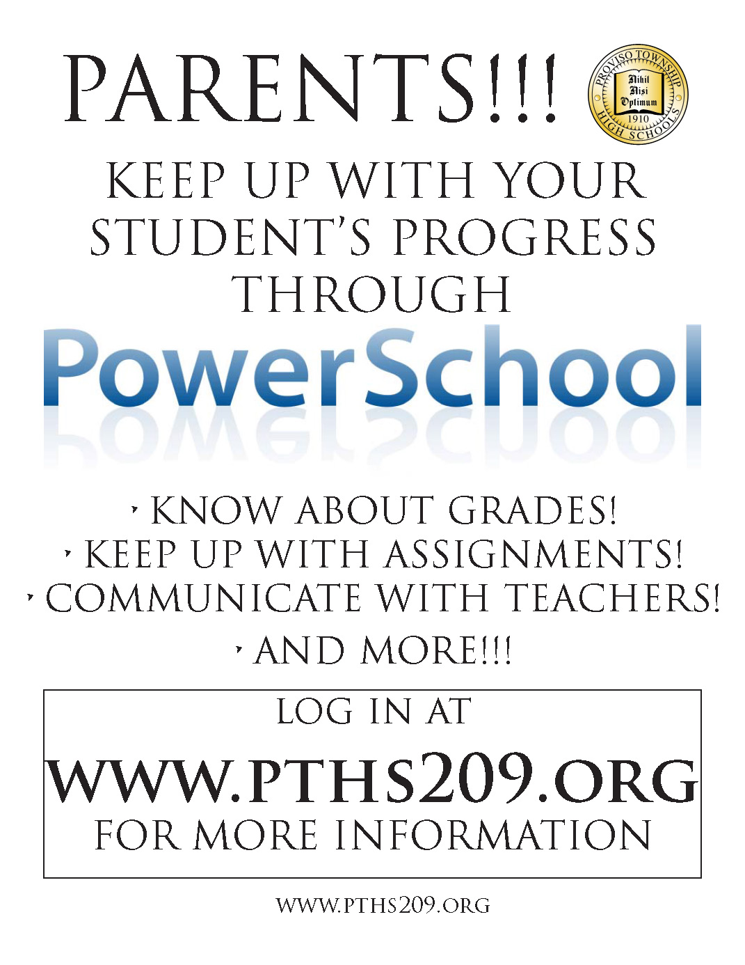 English PowerSchool Button for Instructions