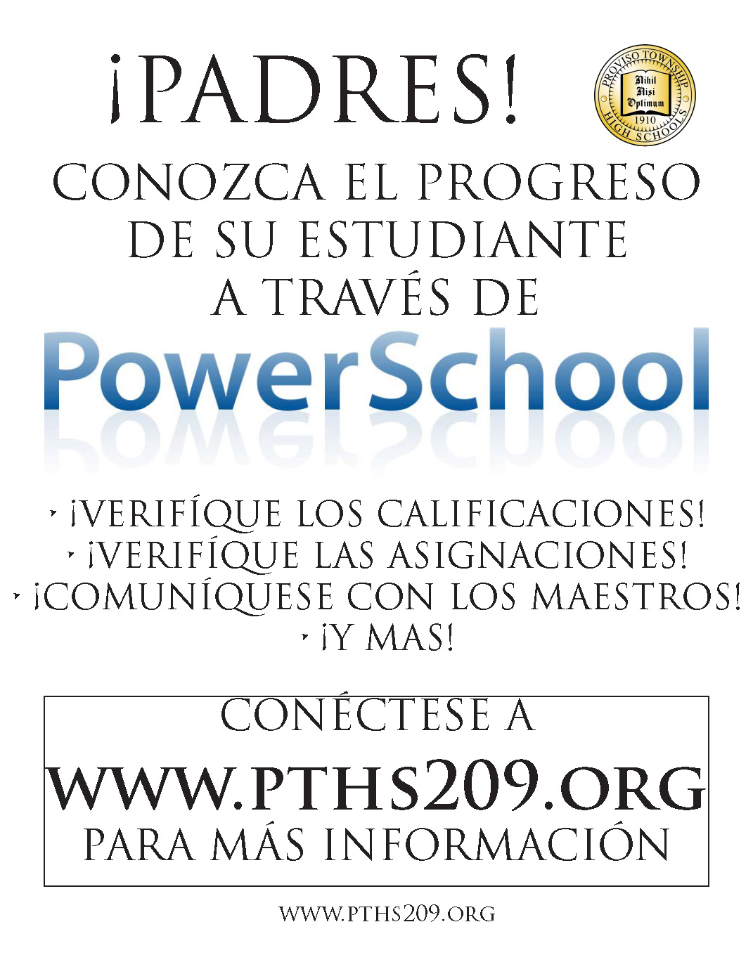 Spanish Power School Instructions Button